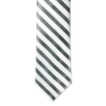 Silver and White CTR Tie Mens