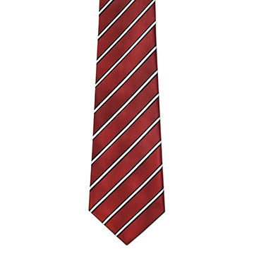 Men's Maroon & Black Stripe Tie - Zions Marketplace