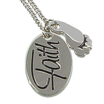 Necklace, 2pc Faith-Footstep