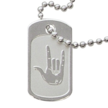 Necklace, Dog Tag I Love You