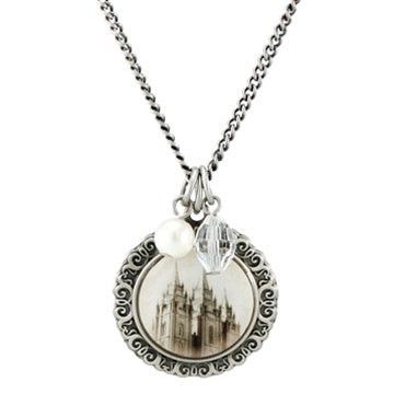 Salt Lake Temple Cameo Necklace - temp back order