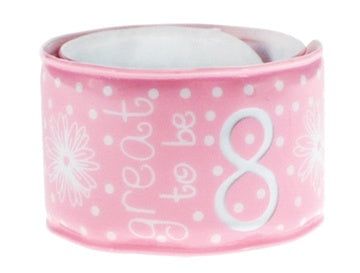 Great to be 8 Pink Flower Slap Bracelet - Zions Marketplace