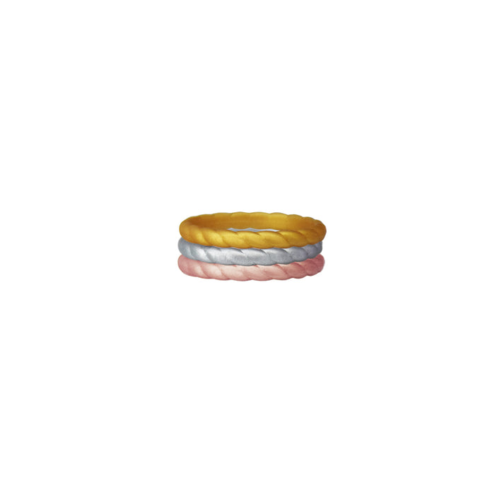 3 tone Metallic Silicone Ring - Zions Marketplace