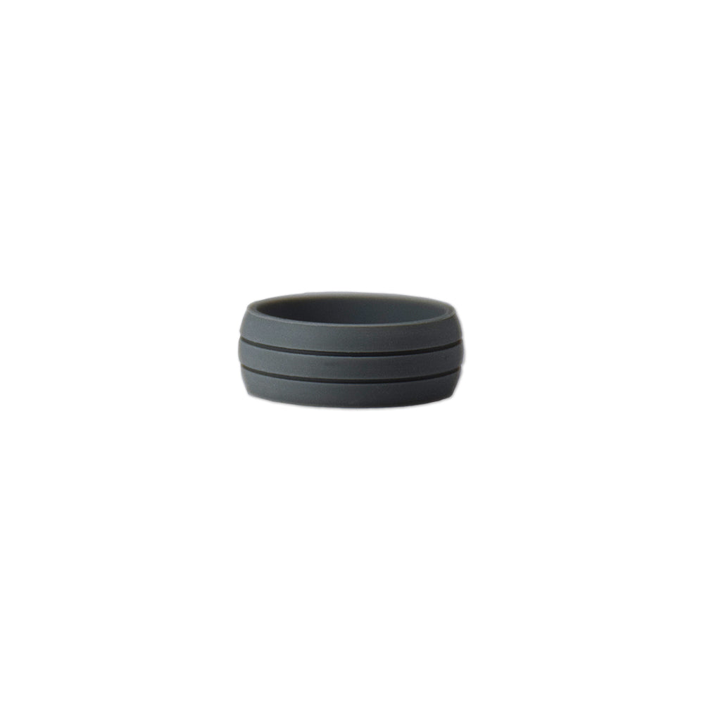 Dark Grey Pinstripe Silicone Ring - Zions Marketplace