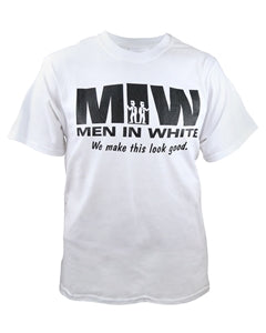 Men in White - White T-Shirt - Zions Marketplace
