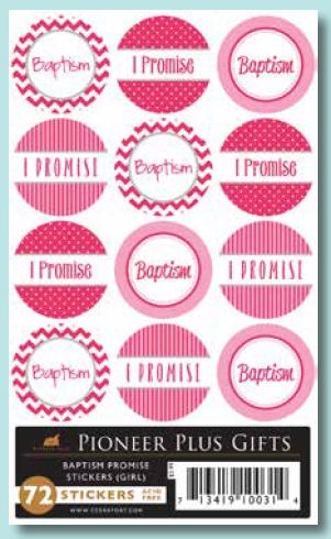 Baptism Promise Sticker (Girl) - Zions Marketplace