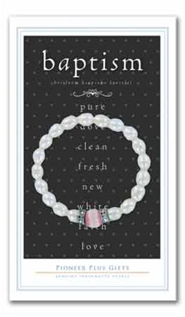 LDS Freshwater Pearl Baptism Bracelet - Zions Marketplace