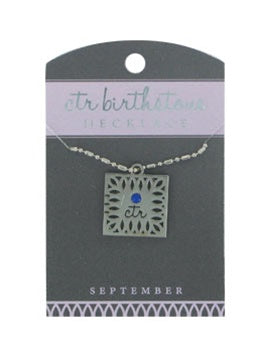 CTR Birthstone Necklaces - September - Zions Marketplace