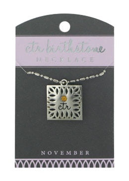 CTR Birthstone Necklaces - November - Zions Marketplace