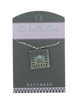 CTR Birthstone Necklaces - December - Zions Marketplace