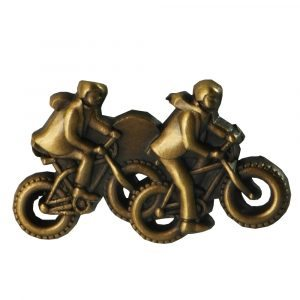 Missionaries on Bikes Gold Pin