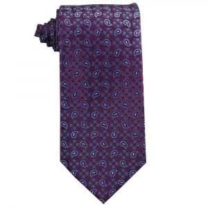 Regency Purple with Small Blue Paisley