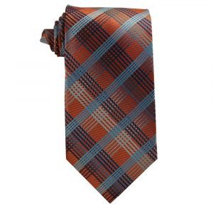Rust Orange Blue Plaid
