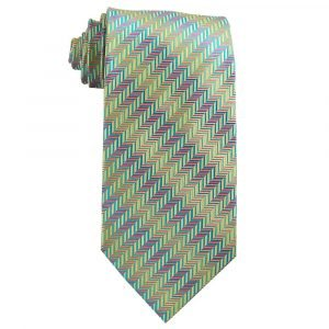 Blue Pink Yellow Herringbone - Zions Marketplace