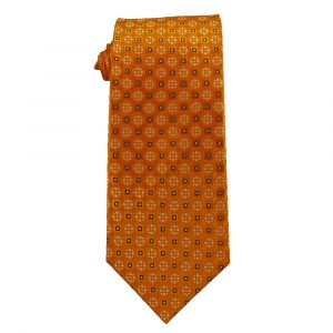 Mens Orange with Gold and Black Dots
