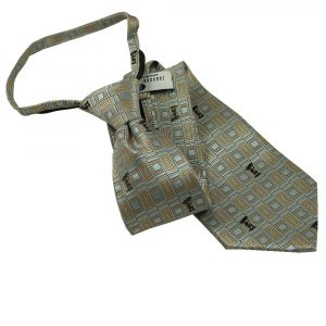 Mens Zipper Tie Brown, Tan, and Light Blue Captain Moroni