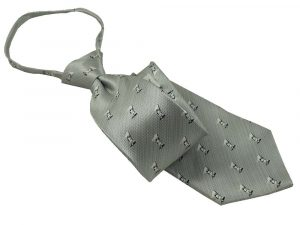 1115CMGR Mens Sterling Gray Captain Moroni Zipper Tie - Zions Marketplace