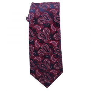 Mens Navy with Purple, Pink and Magenta Paisley
