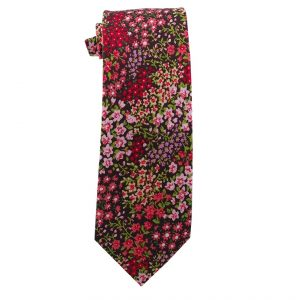Brown with Flowers Cotton Floral Tie - Zions Marketplace