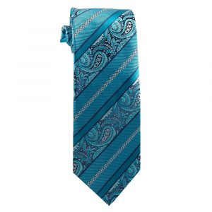 325 Mens Turquoise Paisley Stripe - Zions Marketplace