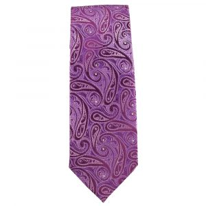 Mens Bright Lilac with Pink and Lavender Paisley