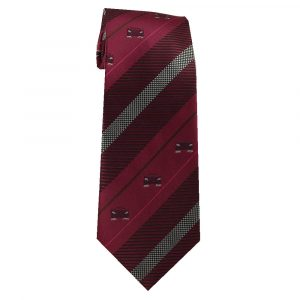 Burgundy Stripe Sports Car Tie for Car Lovers - Zions Marketplace