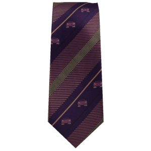 Purple Stripe Sports Car Tie for Car Lovers