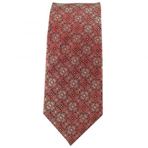 Mens Red and Silver Micro Pattern