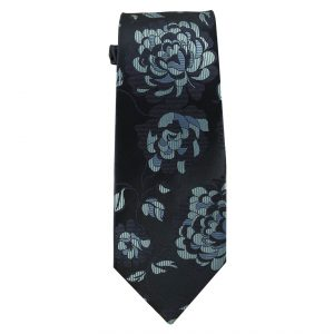Mens Navy with large Blue Flowers