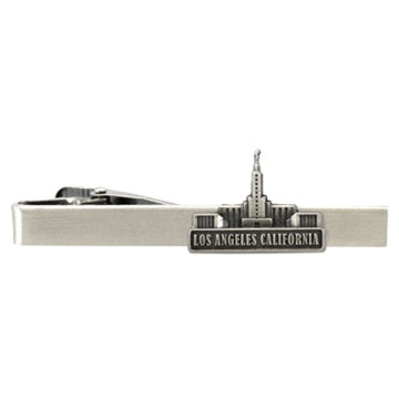 Los Angeles California Tie Clip Silver - Zions Marketplace
