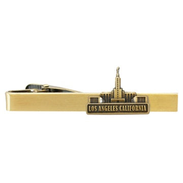 LDS Los Angeles Temple Tie Clip Gold - Zions Marketplace