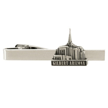 LDS Gilbert Arizona Temple Tie Clip Silver - Zions Marketplace