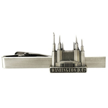 LDS Washington D.C. Temple Tie Clip Silver - Zions Marketplace
