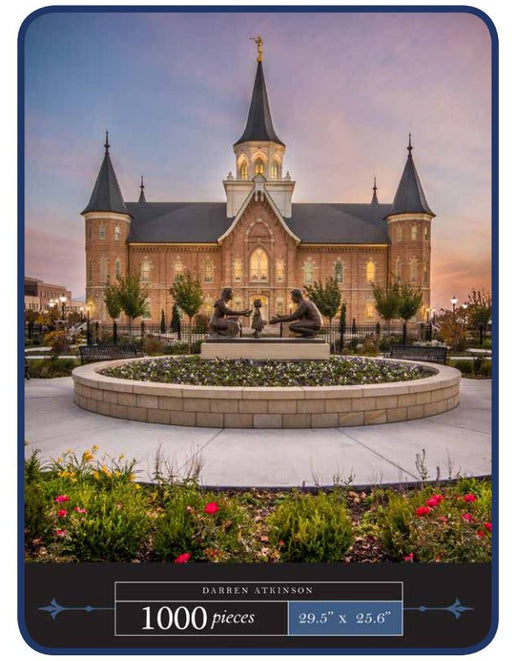 Holiness to the Lord; Provo City Center Temple Jigsaw Puzzle (1000 pcs) - Zions Marketplace