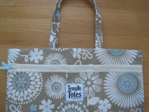 TempleTotes LDS Temple Bag - Summer Fun (Taupe)
