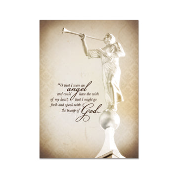 """O that I were an Angel"" Greeting Card - Zions Marketplace"