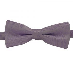 BBow359 Boys Pretied Bow Tie Lilac and Iris Paisley - Zions Marketplace