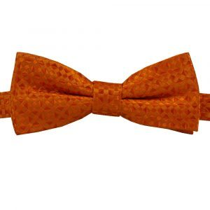 Bbow364 Boys Pretied Bow Tie Tangerine Orange - Zions Marketplace