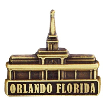 LDS Orlando Florida Temple Pin gold - Zions Marketplace