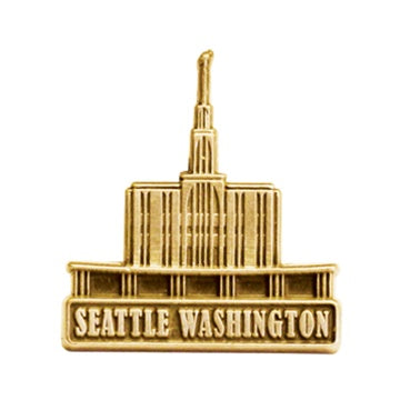 LDS Seattle Washington Temp antique gold finish - Zions Marketplace