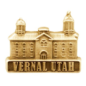 LDS Vernal Utah Temple antiqued gold finish - Zions Marketplace