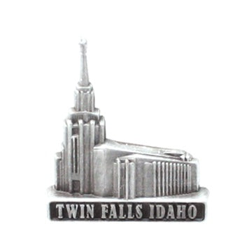 LDS Twin Falls Idaho pin, antiqued silver finish - Zions Marketplace