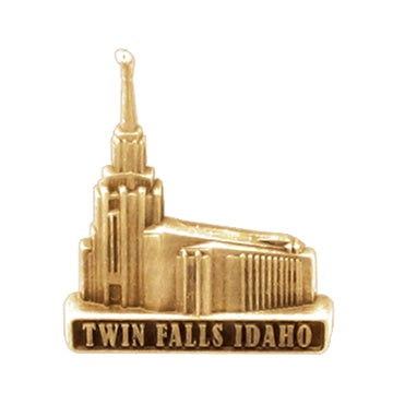 LDS Twin Falls Idaho pin, antiqued gold finish - Zions Marketplace