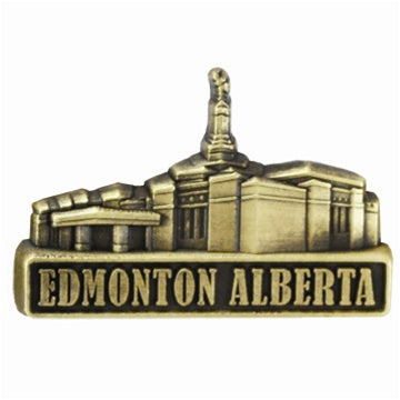 LDS Edmonton Alberta Temple Pin gold - Zions Marketplace