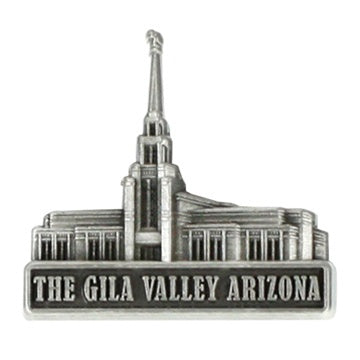 The LDS Gila Valley Arizona Temple Pin Silver