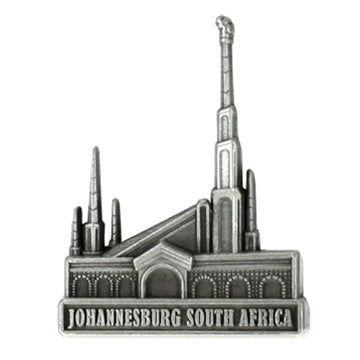 LDS Johannesburg South Africa Temple Pin Silver - Zions Marketplace