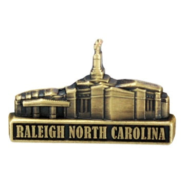 LDS Raleigh North Carolina Temple Pin gold - Zions Marketplace