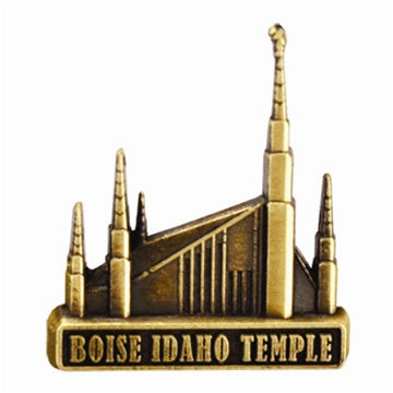LDS Boise Idaho Temple Pin gold Finish - Zions Marketplace