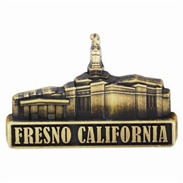 LDS Fresno California Temple Pin gold - Zions Marketplace