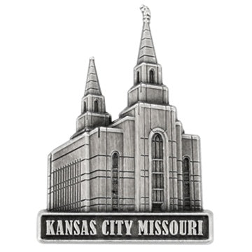 LDS Kansas City Temple Pin Silver - Zions Marketplace